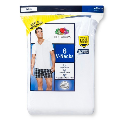 fe82e9fda Fruit of the Loom Men's 6pk V-Neck T-Shirt - White