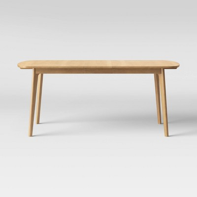 Astrid Mid-Century Dining Table with Extension Leaf Natural - Project 62™