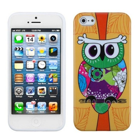 MyBat Tropical Owl TPU Rubber Candy Skin Case Cover Compatible With Apple iPhone 5/5S/SE, Colorful - image 1 of 3