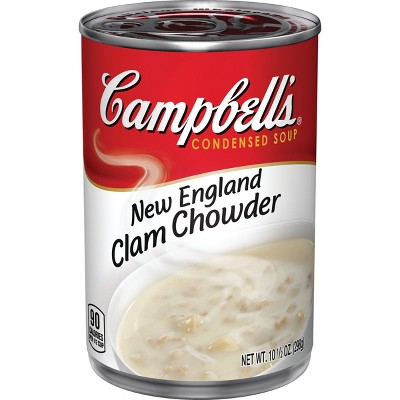 Campbell's Condensed New England Clam Chowder Soup - 10.5oz