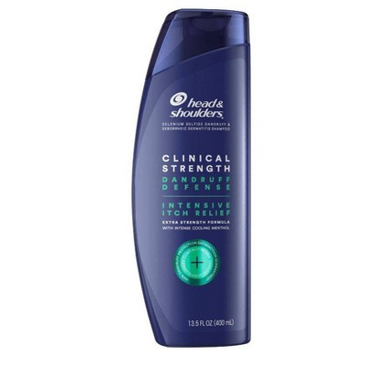 Head & Shoulders Clinical Strength Anti-Dandruff Shampoo for Intensive Itch Relief from Malassezia with 1% Selenium Sulfide   - 13.5 fl oz