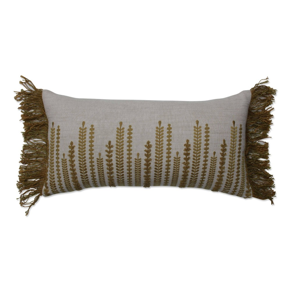 "Image of ""10.5""""x22.5"""" Alipne Bolster Throw Pillow Gold - Pillow Perfect"""