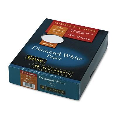 Southworth 25% Cotton Diamond White Business Paper 20 lbs. 8-1/2 x 11 500/Box 3122010