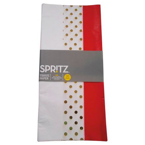 Red & Gold Polka Dot Tissue Paper - Spritz™ - image 1 of 1