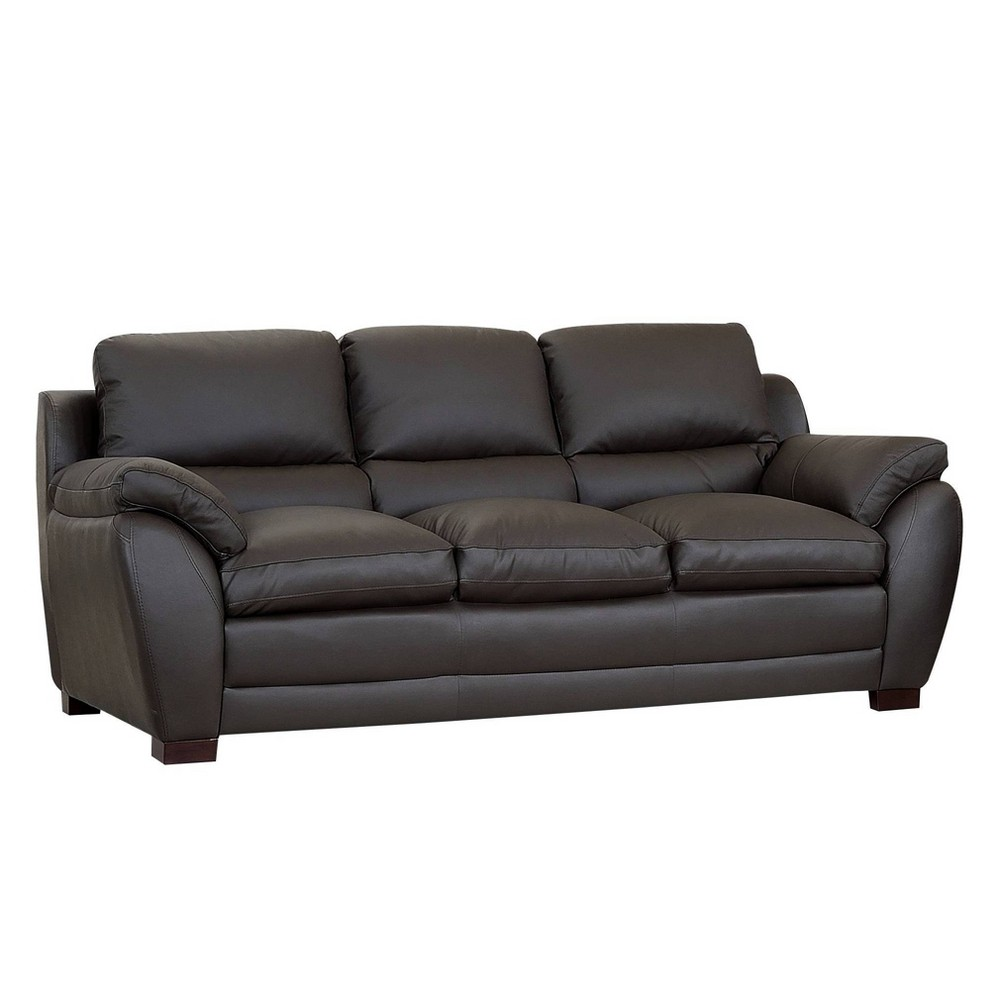 Montes Top Grain Leather Sofa Brown - Abbyson Living