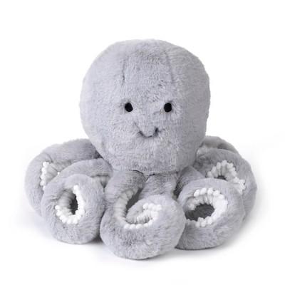 Lambs & Ivy Ocean Blue Plush Gray Octopus Stuffed Animal Toy - Inky