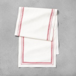 Oversized Table Runner Red Embroidery - Hearth & Hand™ with Magnolia