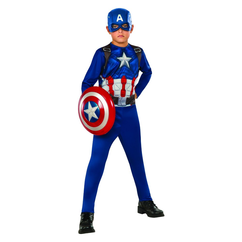 Kids' Captain America Basic Halloween Costume M, Boy's, Multicolored