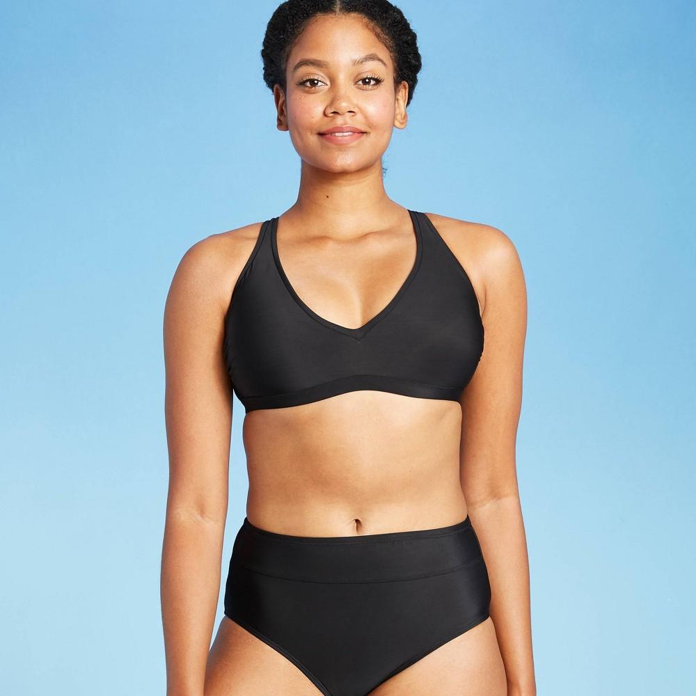 Women 39 S Strappy Tie Back Bralette Bikini Top All In Motion 8482 Black Xs