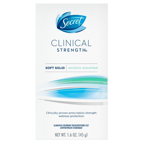 Secret Clinical Strength Sensitive Unscented Soft Solid Antiperspirant and Deodorant - 1.6oz - image 1 of 3