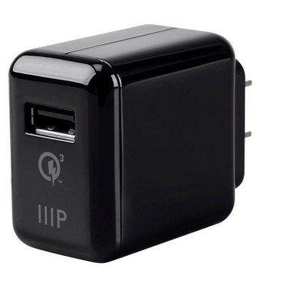 Monoprice USB Wall Charger 3A with Qualcomm Quick Charge 3.0 Technology, Black