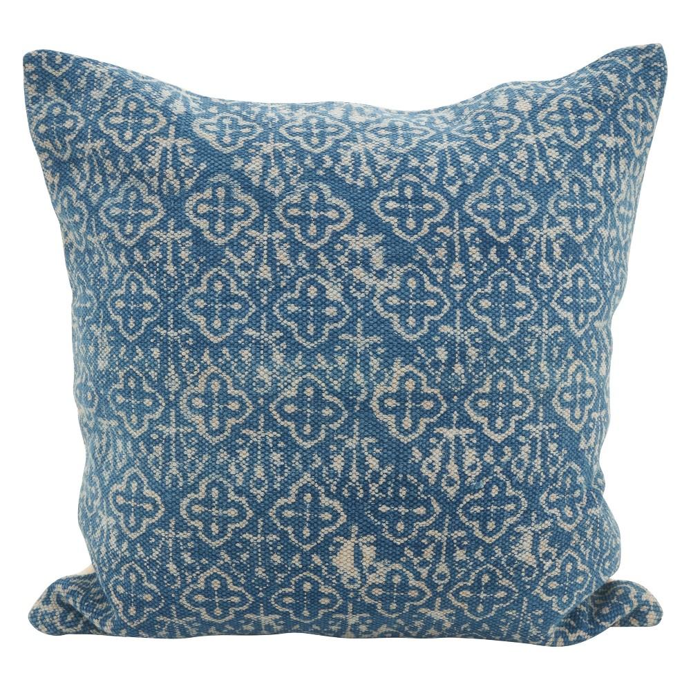 20 34 X20 34 Distressed Point Square Down Filled Throw Pillow Blue Saro Lifestyle