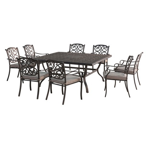 9pc Roosevelt Aluminum Square Dining Set - Sunjoy - image 1 of 4