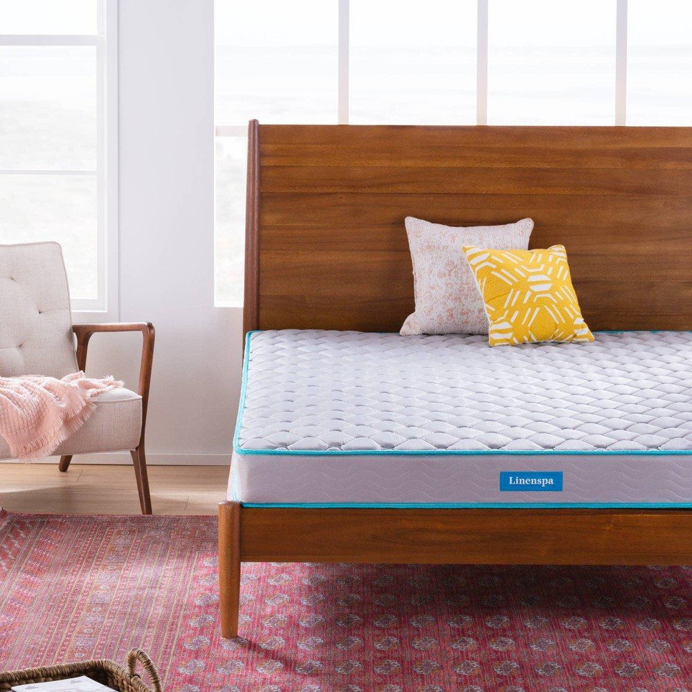 "Image of ""California King 6"""" Essential Innerspring Mattress - Linenspa, Gray Blue"""