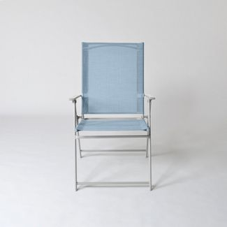 Sling Folding Patio Chair Blue - Threshold™