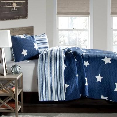 Star Quilt Set Navy - Lush Décor