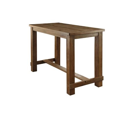 Sun Pine Eliza Rustic Bar Table Natural Tone