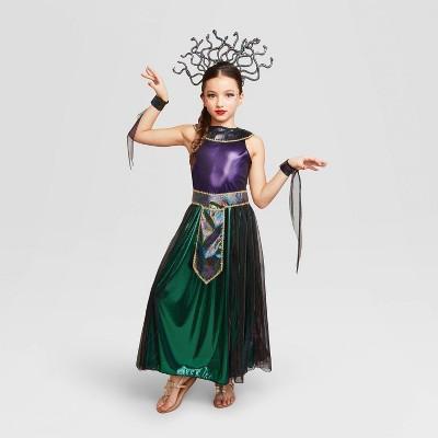 Kids' Medusa Halloween Costume Dress (with 3 Accessories) - Hyde & EEK! Boutique™