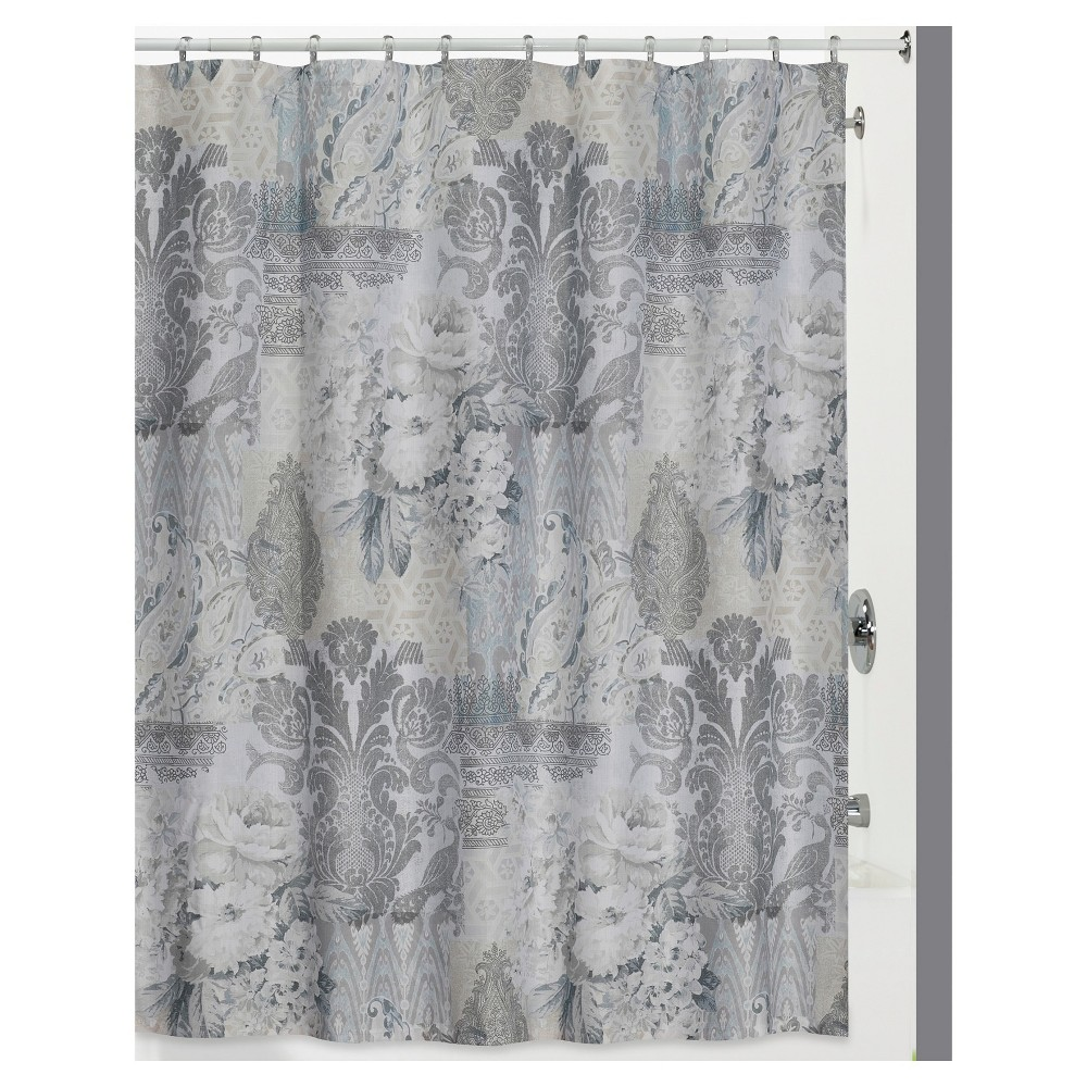 Image of Heirloom 13 Piece - Shower Curtain & Hook 12pc Set Gray - Creative Bath
