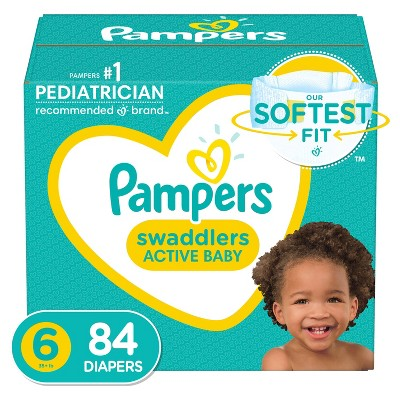 Pampers Swaddlers Disposable Diapers - Size 6 - 84ct