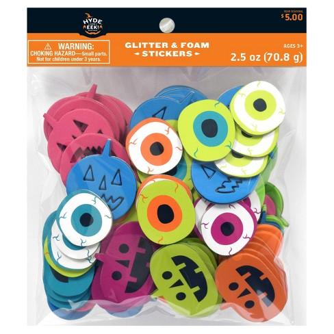 Halloween Pumpkins & Eyeballs Sticker Bag - Hyde & EEK! Boutique™ - image 1 of 1