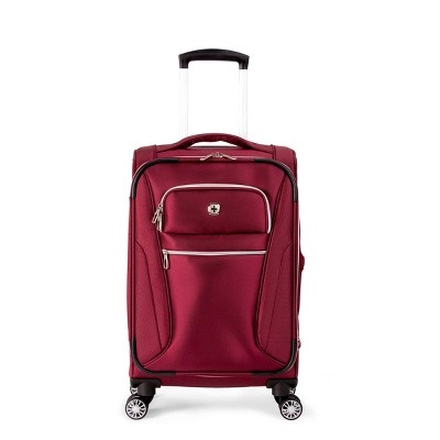 SWISSGEAR 20  Checklite Pilot Case Carry On Suitcase - Burgundy Velvet
