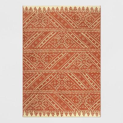 7' x 10' Royal Stripe Outdoor Rug Blush - Opalhouse™