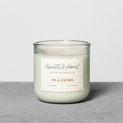 10oz Container Candle Fir & Leather - Hearth & Hand™ with Magnolia