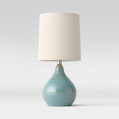 Reactive Glaze Ceramic Mini Lamp (Includes LED Light Bulb)Blue - Threshold™