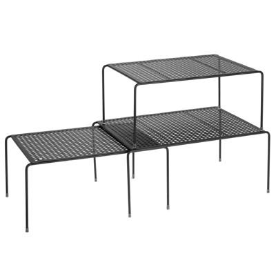 mDesign Adjustable / Expandable Metal Closet Storage Shelves, 3 Pack