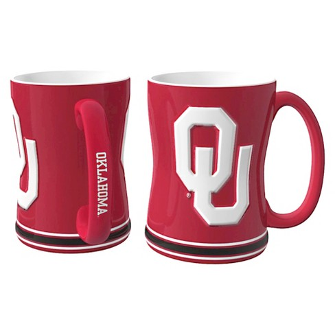 Oklahoma Sooners Boelter Brands 2 Pack Sculpted Relief Style Coffee Mug - Red (15 oz) - image 1 of 1