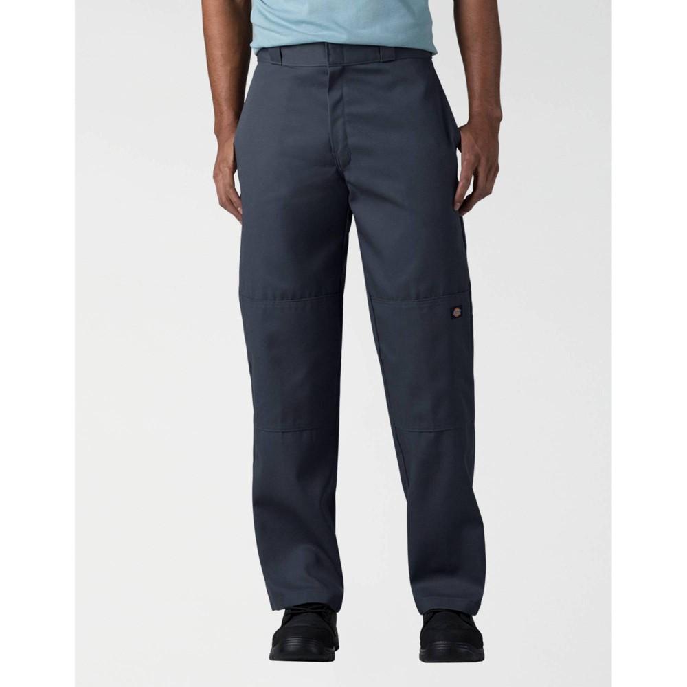 Dickies Men 39 S Big 38 Tall Loose Fit Double Knee Work Pants Dark Navy 44x34