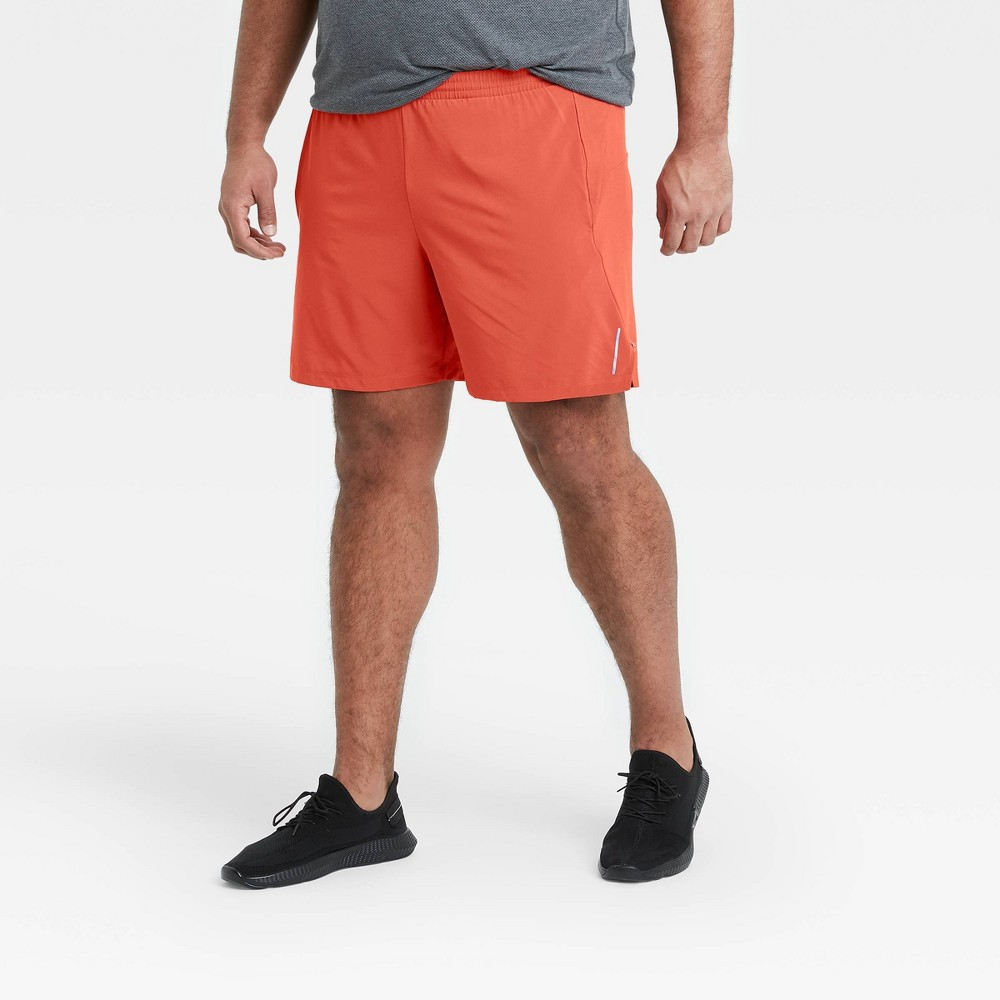 Men 39 S 7 34 Unlined Run Shorts All In Motion 8482 Red M