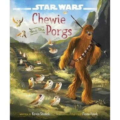 SW Last Jedi Chewie and the Porgs