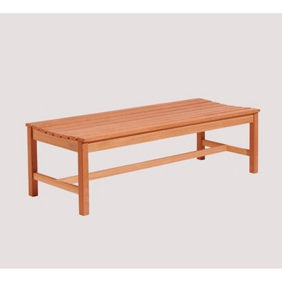 5ft Wood Backless Garden Patio Bench Brown - Vifah