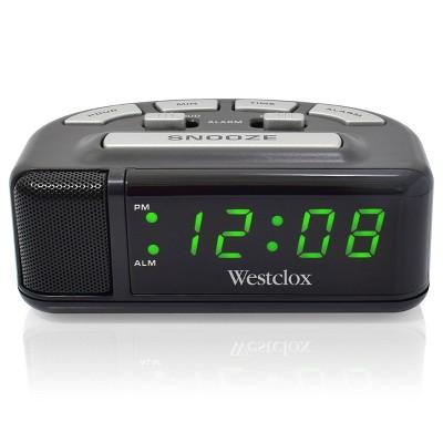 Digital Alarm Clock Black - Westclox