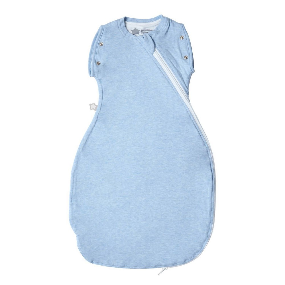 Tommee Tippee Sleepee Snuggee Baby Swaddle Blanket 1 0 Tog Blue Marl 3 9 Months