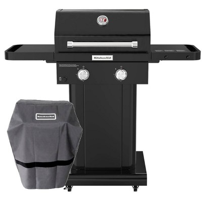 KitchenAid 720-0891DACO 2 Burner Gas Grill with Grill Cover - Black