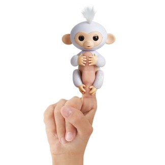 Fingerlings Interactive Monkey - Glitter - White - Sugar
