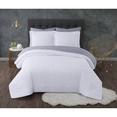 Queen 7pc Antimicrobial Seersucker Bed in a Bag White - Truly Calm