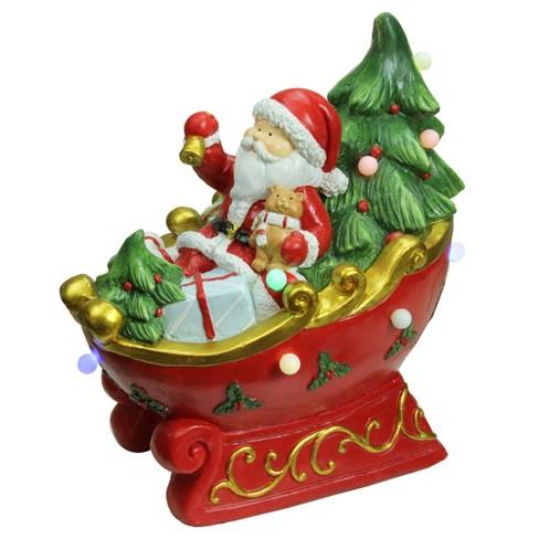 Northlight 18 Led Lighted Santa In A Sleigh Musical Christmas