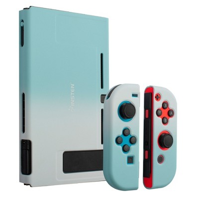 Insten for Nintendo Switch Dockable Protective Hard Case Cover Compatible with Nintendo Switch Console and Joycon, White Blue Gradient