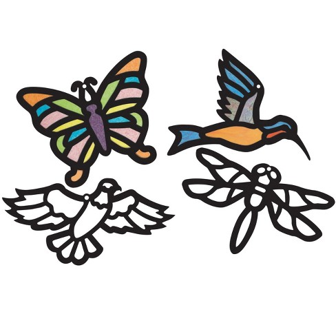 Roylco Stained Glass Frames, 8 x 12 Inches, Birds and Bugs, 24 Sheets - image 1 of 1