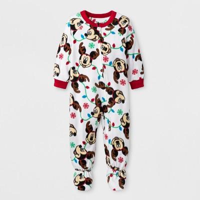 Toddler Boys' Mickey Mouse Blanket Sleeper - White 18M