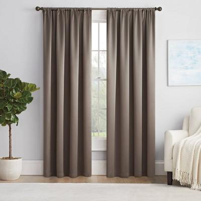 Solid Thermapanel Room Darkening Curtain Panel - Eclipse