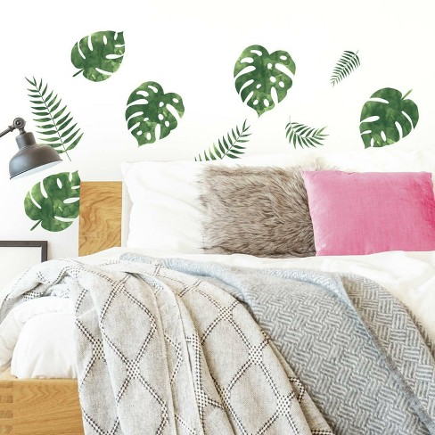 Palm Leaves Peel and Stick Wall Decal - RoomMates - image 1 of 3