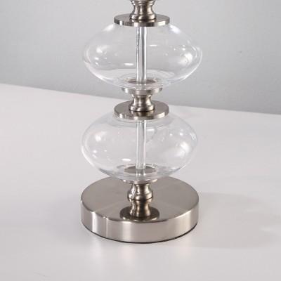 Abbyson Living Maya Glass Orb Table Lamp Clear : Target