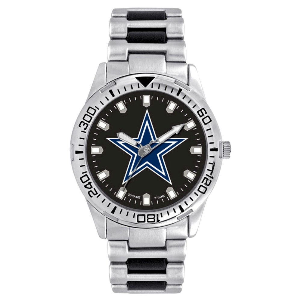 Men's Game Time NFL Heavy Hitter Sports Watch - Silver - Dallas Cowboys