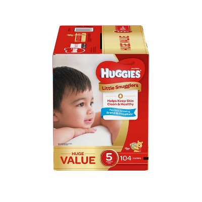 Huggies Little Snugglers Diapers Huge Pack - Size 5 (104ct )