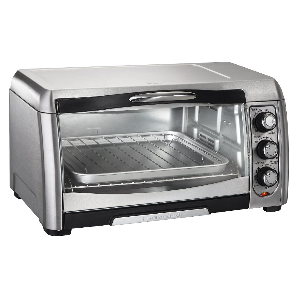 Image of Hamilton Beach 6 Slice Convection Toaster Oven - Stainless Steel/Black- 31333